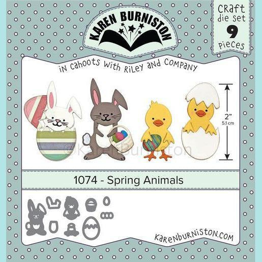 karen Burniston - Spring Animals Die Set