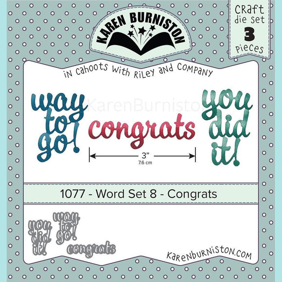 karen Burniston - Word Set 8 - Congrats Die Set