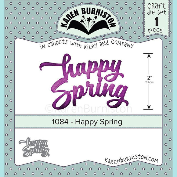 karen Burniston - Happy Spring Die Set