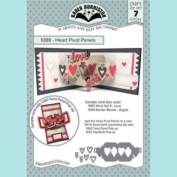 karen Burniston - Heart Pivot Panels Die Set
