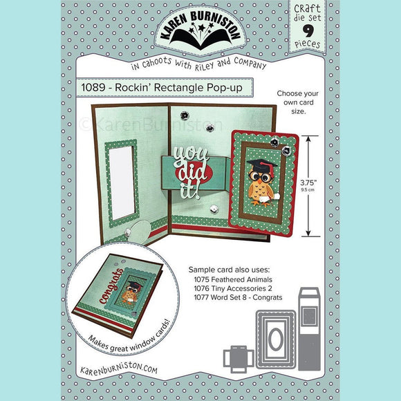 karen Burniston - Rockin' Rectangle Pop-up Die Set