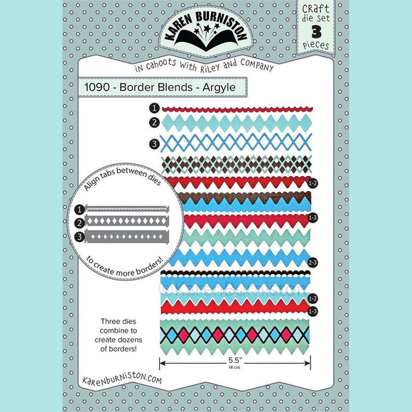 karen Burniston - Border Blends - Argyle Die Set