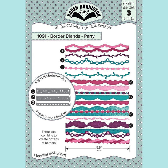 karen Burniston - Border Blends - Party Die Set