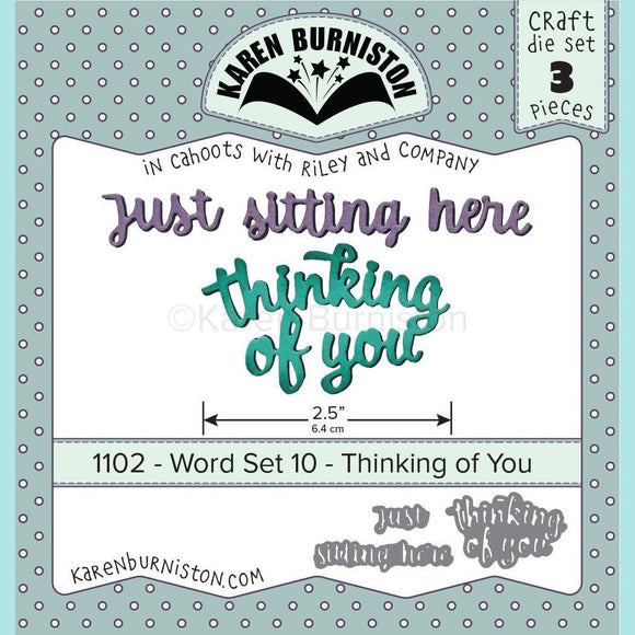 Karen Burniston - Word Set 10 Thinking of You Die