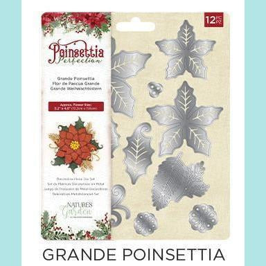 Crafter's Companion - Poinsettia Perfection - Metal Dies - Grande Poinsettia