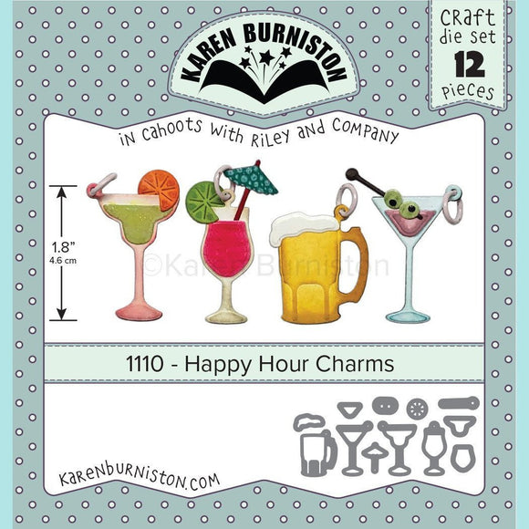 Karen Burniston - Happy Hour Charms Die