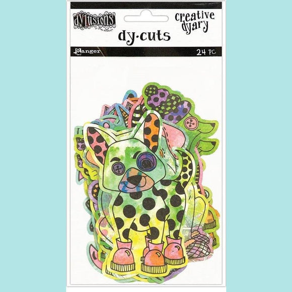 Ranger - Dylusions Creative Dyary Dy-Cuts - 4 -Coloured  Animals