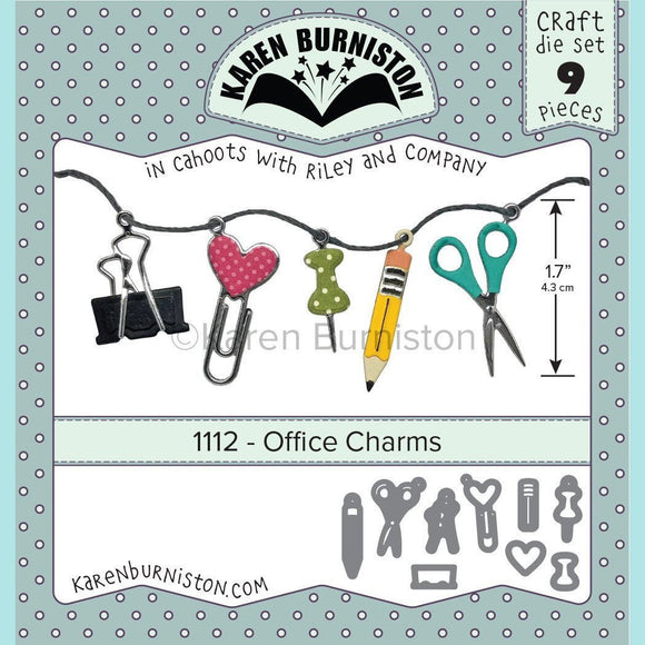 Karen Burniston - Office Charms Die Set