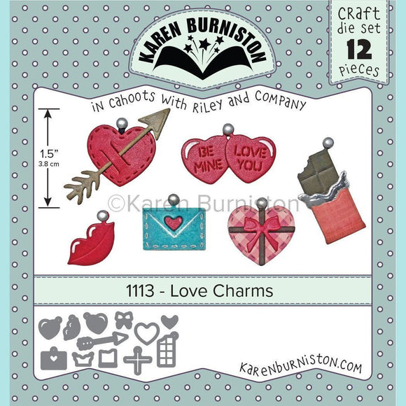 Karen Burniston - Love Charms Die Set
