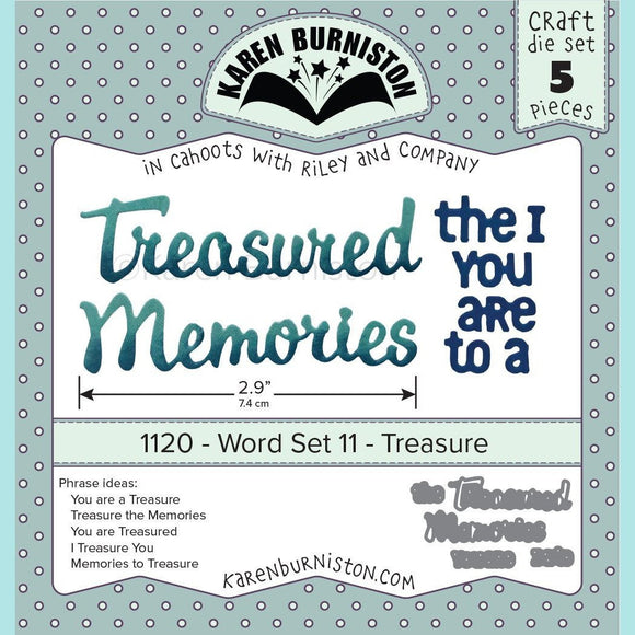 Karen Burniston - Word Set 11 - Treasure