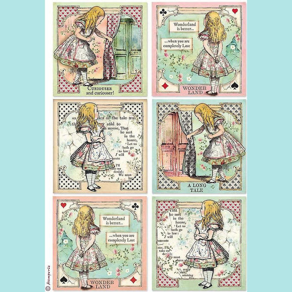 A4 Rice Paper Packed Alice Cards