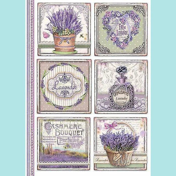 A4 Rice Paper Packed Provence Cards