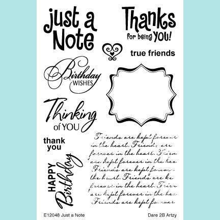 Dare 2B Artzy - Just a Note Stamp Set