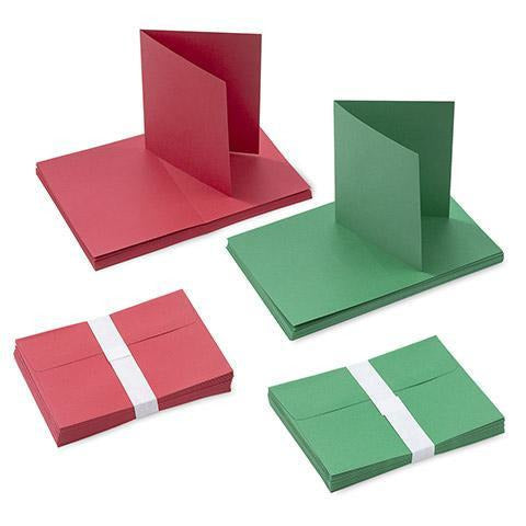 Darice® - Blank Red and Green Cards with Envelopes: A7 size, 50 pieces