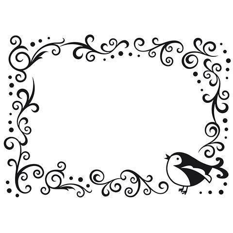 Darice® Embossing Folder - Bird, Scroll Border