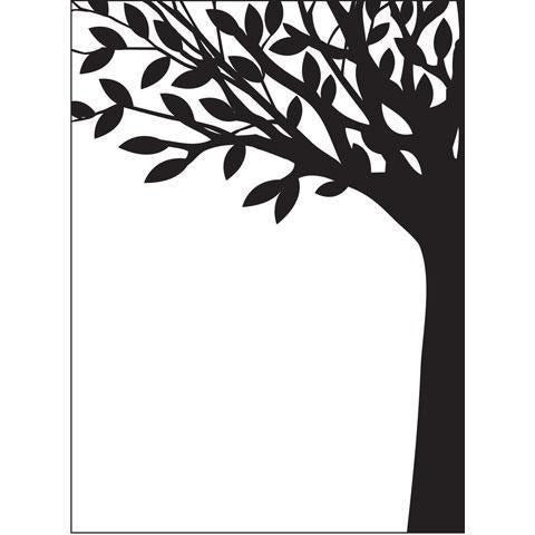 Darice® Embossing Folder - Leafy Tree Trunk
