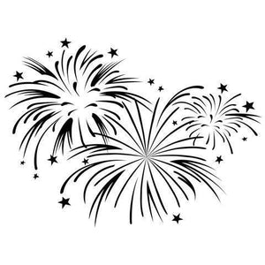Darice® Embossing Folder - Fireworks Background - 4.25 x 5.75 inches