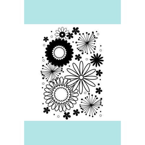 Darice® Embossing Folder - Flower Frenzy Centered