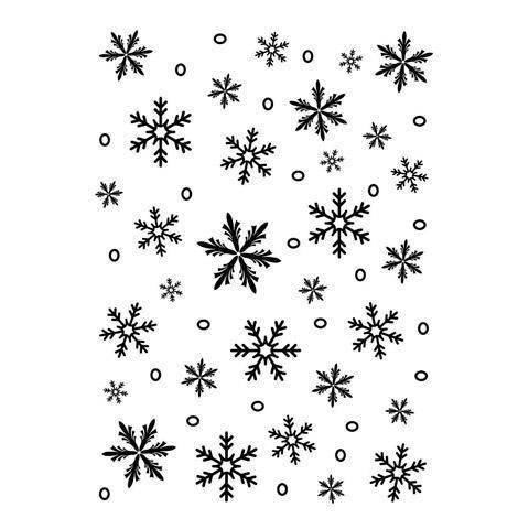 Darice® Embossing Folder - Snowflake Background - 5 X 7