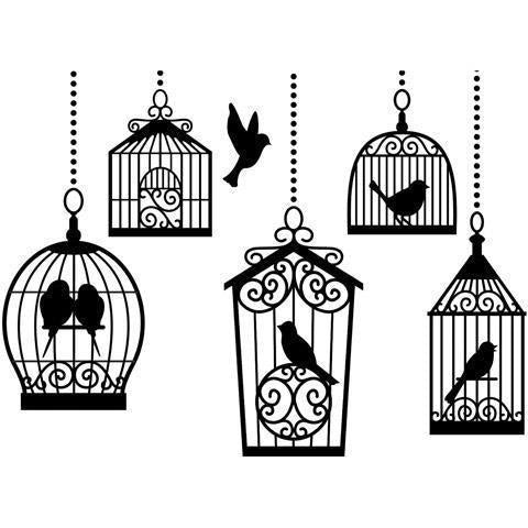 Darice® Embossing Folder - Birdcages