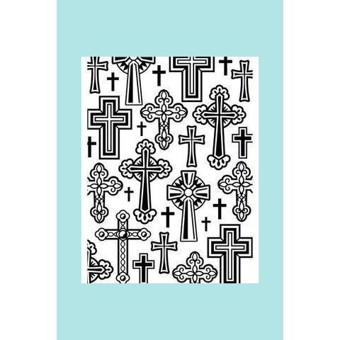 Darice® Embossing Folder - Crosses