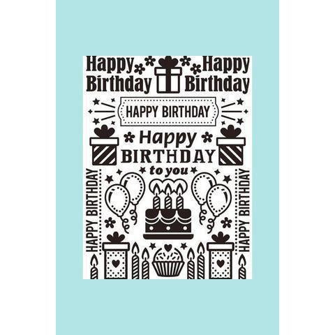 Darice® Embossing Folder - Birthday Collage