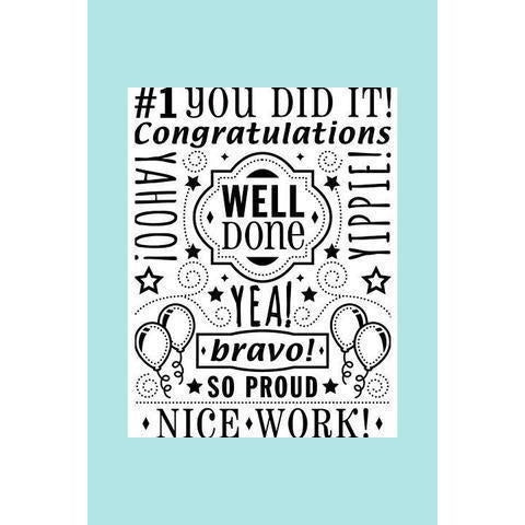 Darice® Embossing Folder - Congrats Collage