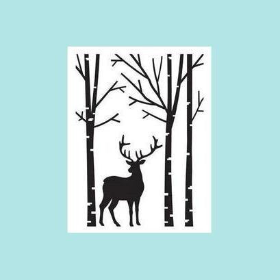 Darice® Embossing Folder - Deer in Forest