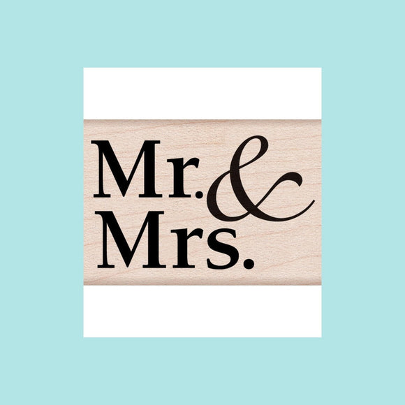 Hero Arts -  Mr. & Mrs. Wood Mount Stamp