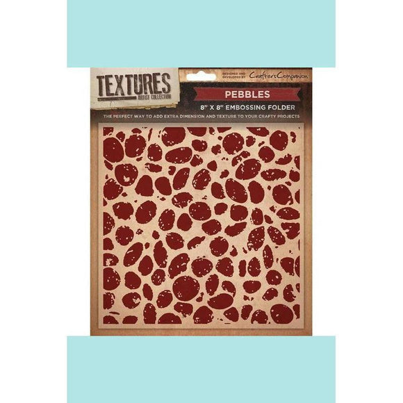 Crafters Companion Textures Embossing Folder - Pebbles