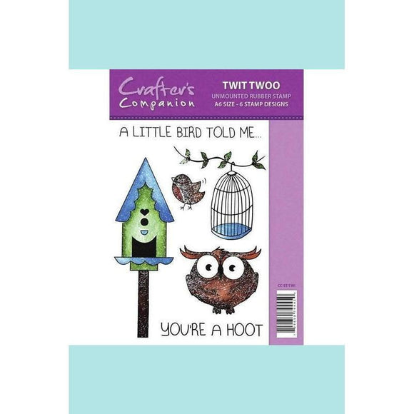 Crafter's Companion Spectrum Sparkle Stamp - Twit Twoo