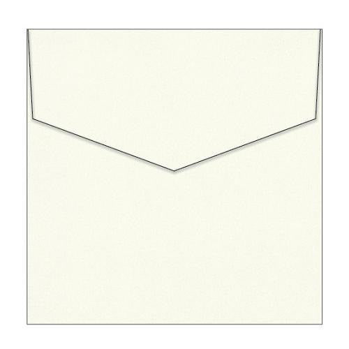 Peterkin - Curious Metallic White Gold Envelope - 150mm x 150mm