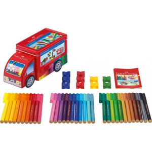 Faber-Castell - Connector Pens in Truck - 33 Pack