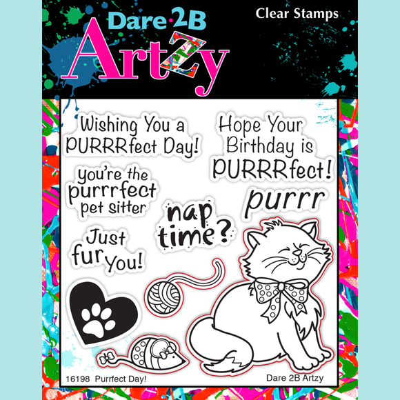Dare 2B Artzy - Purrfect Day Stamp Set
