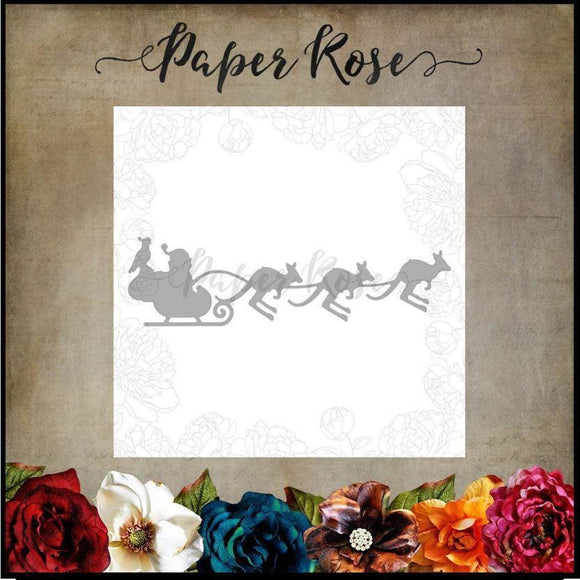 Paper Rose - Santa's Sleigh With Kangaroos - Metal Cutting Die