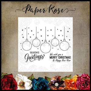 Paper Rose - Hanging Ornaments Clear Stamp Set