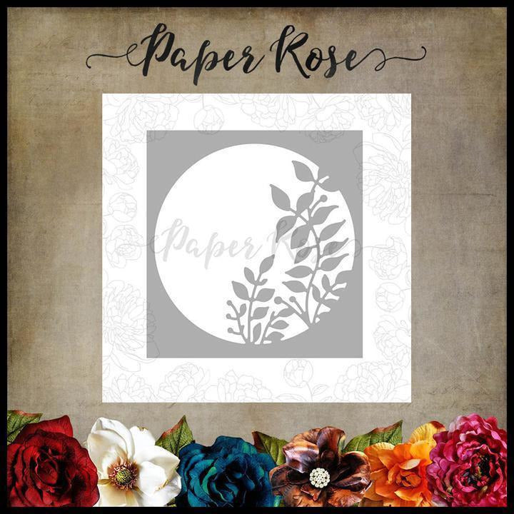 Paper Rose - Leafy Circle Metal Die