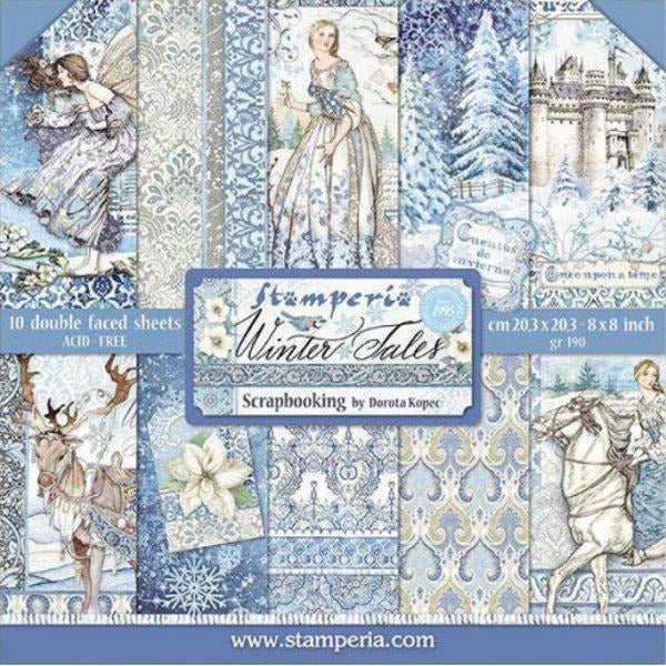 "Stamperia - Block 10 sheets 30.5x30.5 (12""x12"") Double Face Winter Tales"