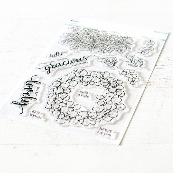 Pinkfresh Studio - Eucalyptus Fantasy Stamps and Dies