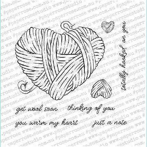 "Paper Rose - Hooked on You - 4"" x 4"" Stamp Set"