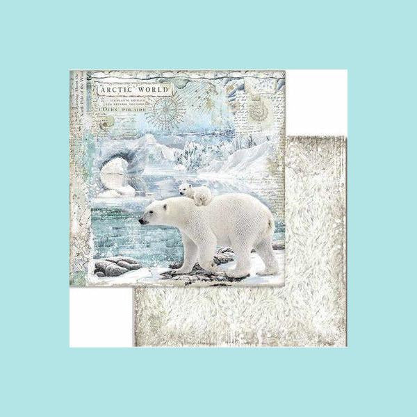 Gray Stamperia - Block 10 sheets Double Face Arctic Antarctic - two sizes