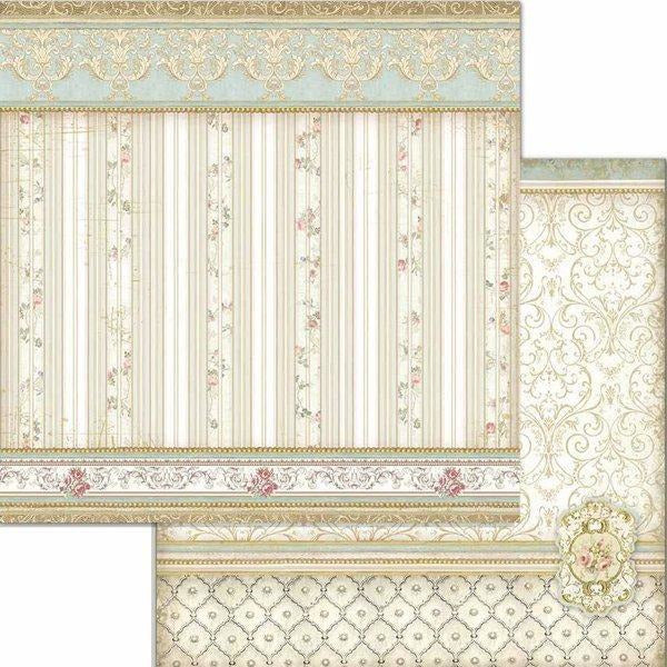 "Stamperia - Block 10 sheets 30.5x30.5 (12""x12"") Double Face Princess"
