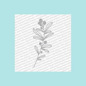 White Smoke Paper Rose - Mistletoe Large - Metal Die