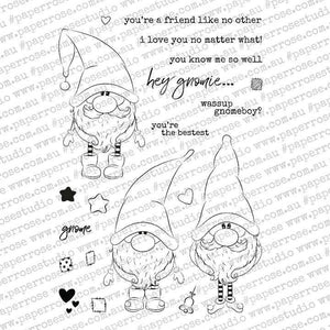 "Paper Rose - Gnomies 4x6"" Clear Stamp Set"