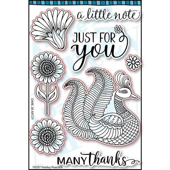 Dare 2B Artzy - Paisley Peacock Stamp Set