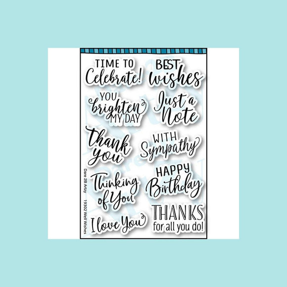 Dare 2B Artzy - Well Wishes Stamp Set