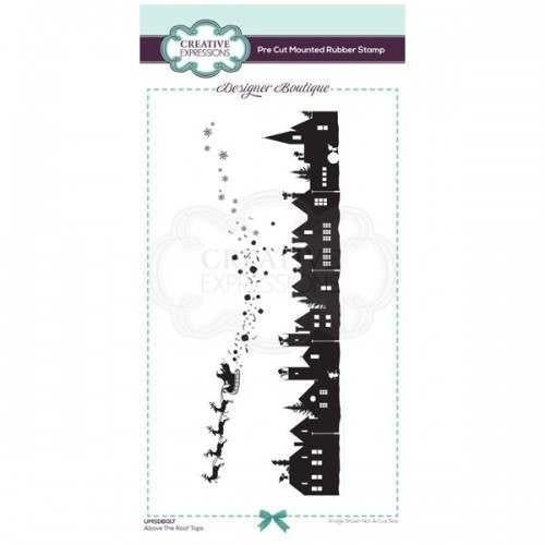 Creative Expressions - Designer Boutique Collection Above The Roof Tops DL Pre Cut Rubber Stamp