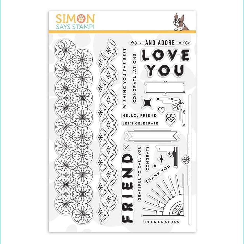 Simon Says Stamp - Clear Stamps Deco Borders & Corners