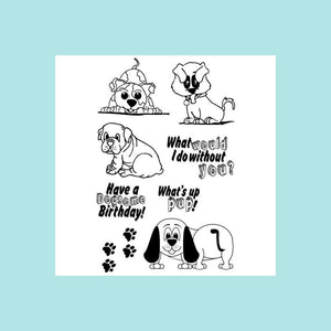 Joy Clair - PUPPY LOVE Clear Stamp Set