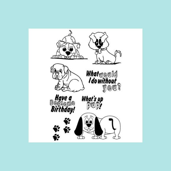 Joy Clair PUPPY LOVE Clear Stamp Set